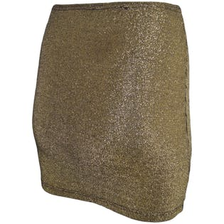 Gold Metallic Pencil Skirt by Area Code