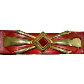 Gold and Red Diamond Belt by Judith Leiber