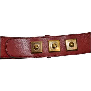 Gold and Red Square Belt