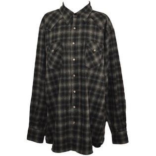 Gray Plaid Wool Flannel by Pendleton