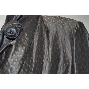Gray and Brown Diamond Pattern Jacket by Giorgio Armani