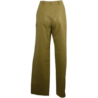 Green Leather Pants by Company by Ellen Tracy