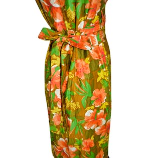 Hawaiian Floor Length Dress by Ke Haulani