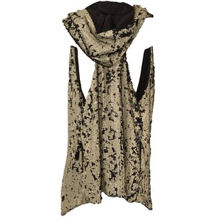 Hooded Sequin Vest by Cosmo and Nathalia