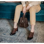 another view of Two Toned Brown Oxfords with Heel by Paraboot