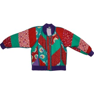Colorful Quilted Jacket