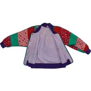 Colorful Quilted Jacket by Jeanne Marc