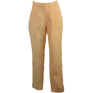 Light Peach Corduroy Pants by Stefano Clothing Company