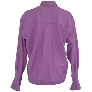 Light Purple Blouse with Cube Buttons by Montana