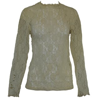 Long Sleeve High Neck Lace Blouse