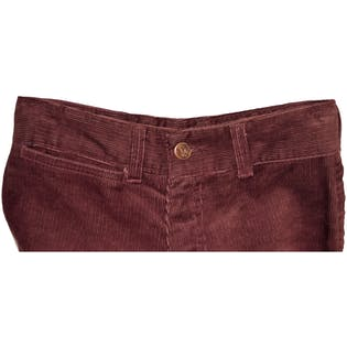 Maroon Corduroy Bell Bottoms by Chemin Defur
