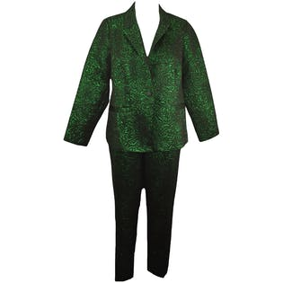 Metallic Green and Black Suit by Eloquii