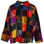 Multi Color Patchwork Design Coat