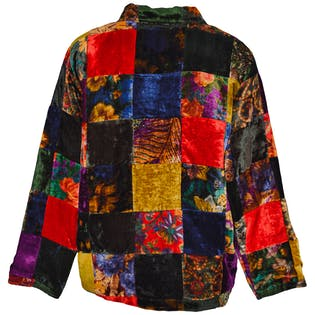 Multi Color Patchwork Design Coat by Cover Charge