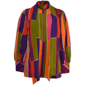 Multicolor Patterned Blouse by Liberty House