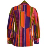 another view of Multicolor Patterned Blouse by Liberty House