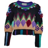 Multi Colored Crop Sweater