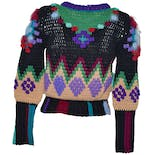 another view of Multi Colored Crop Sweater