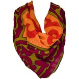 Multi Colored Patterned Large Scarf