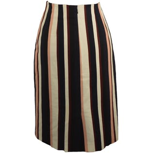 Navy Multi Color Stripe Skirt by Ann Taylor