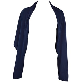"Margiela Navy ""Sleeve"" Shawl"