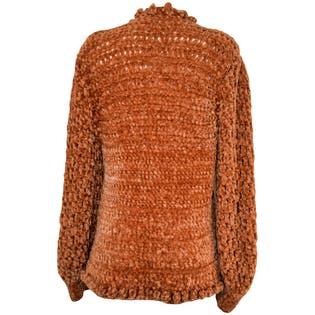Orange Large Knit Cardigan by Cee