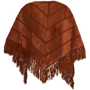 Orange Shawl with Fringe by Saks Fifth Avenue