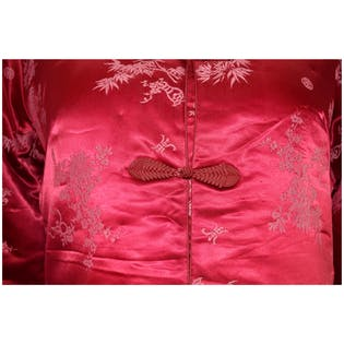 Pink Coat with Light Pink Embroidery by Fortune