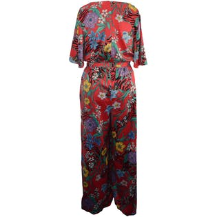 e6948e98a3 Pink Floral Jumpsuit by Lane Bryant – Thrilling