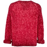 another view of Pink Knit Button Up Sweater