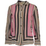 60's/70's Pink and Gray Button Up Shirt by Emilio Pucci