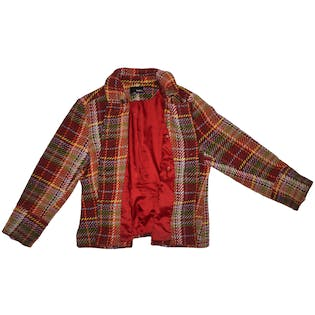 Plaid Peacoat by Mixit