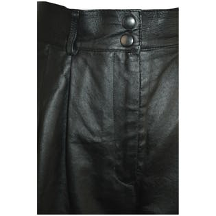Pleated Leather Shorts by Bagatelle