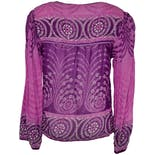 another view of Purple Printed Boho Blouse by Fashion Girls