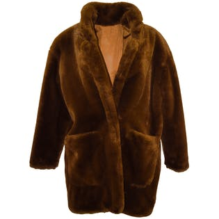 Faux Fur Medium Length Coat by Anne Klein