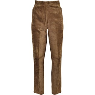 Brown Suede Pants by Gucci