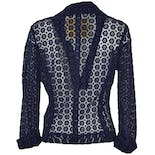 another view of Navy Lace Blazer by Beth Bowley