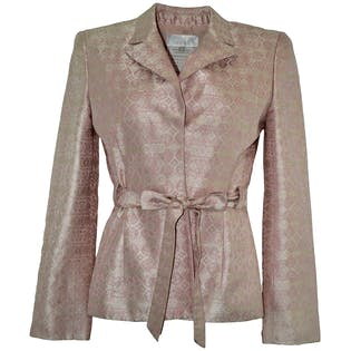 Pink Silk Jacket by Badgley Mischka