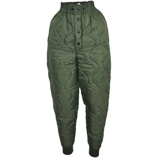 Quilted Army Liner Pants (small)