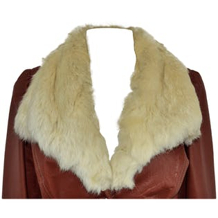 Rabbit Fur Leather Coat
