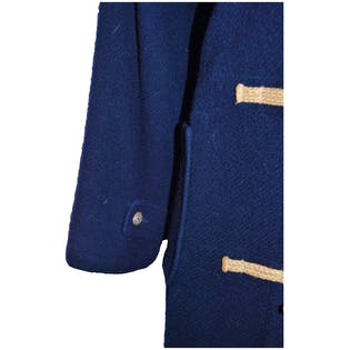 1990's Long Navy Coat by Ralph Lauren