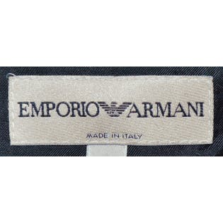 Simple Black Blazer by Emporio Armani