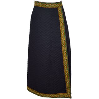 Quilted Maxi Wrap Skirt by Sir James