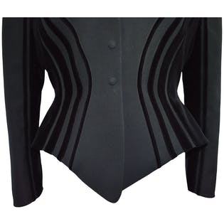 Velvet Trim Jacket by Thierry Mugler