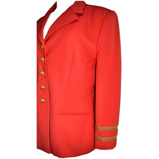 Red Blazer With Gold Details by Escada