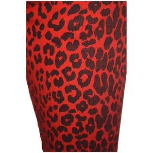 Red Leopard Print Pants by Tripp