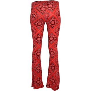 Red Paisley Western Flair Leggings by Fashion Nova