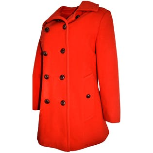 Red Pea Coat by Mackintosh