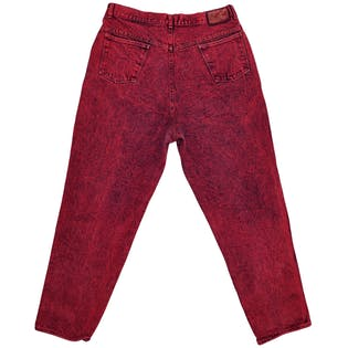 Red Slim Fit Jeans by Points West