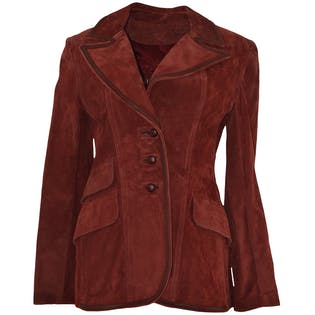 Red Suede Blazer by M.S. Collectibles